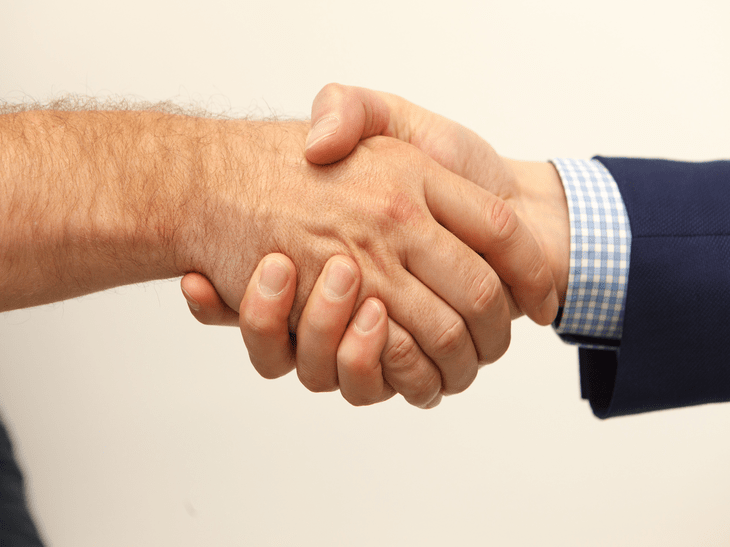business agreement handshake