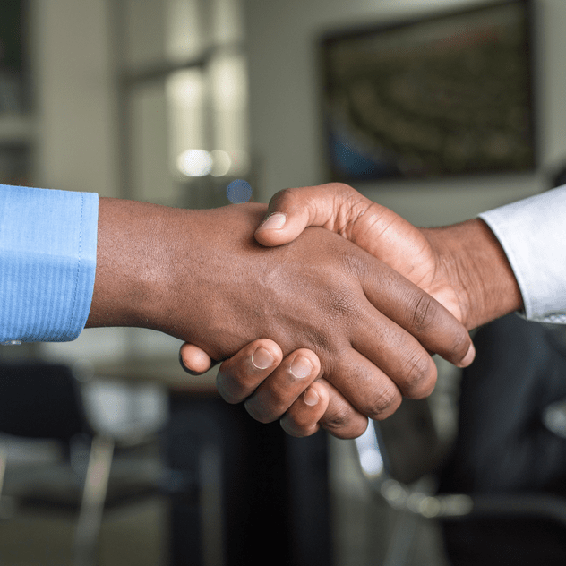 men in suit handshake