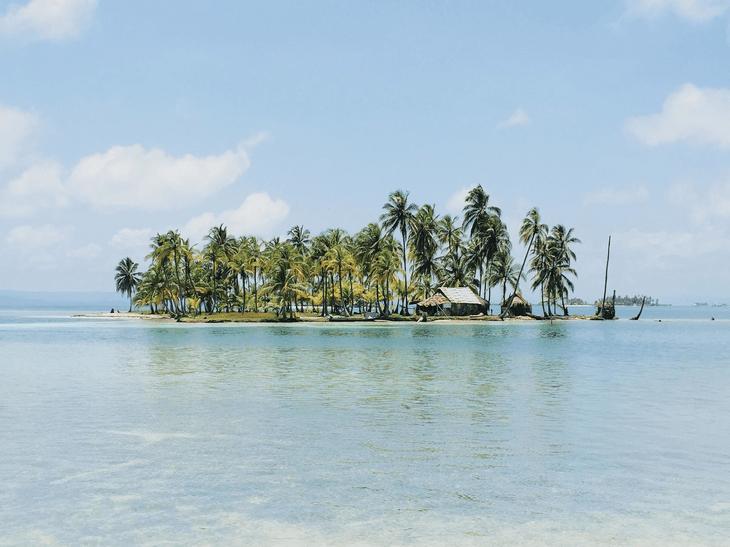 remote uninhabited rocky island