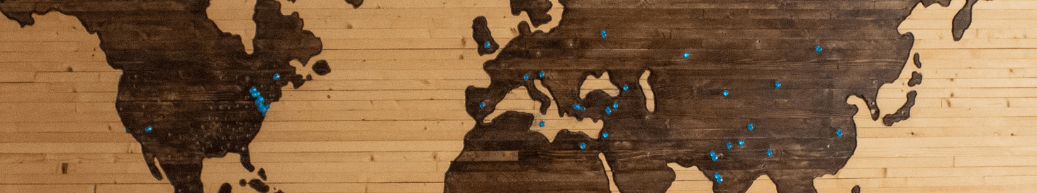 a wall made out of world map