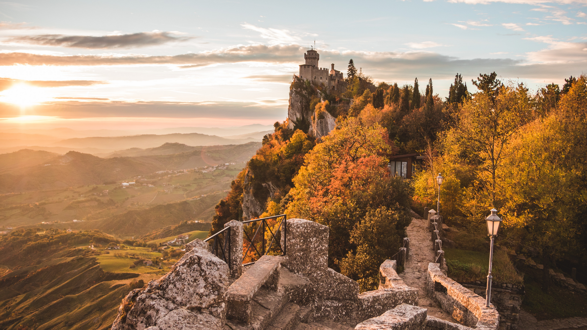A view in San Marino